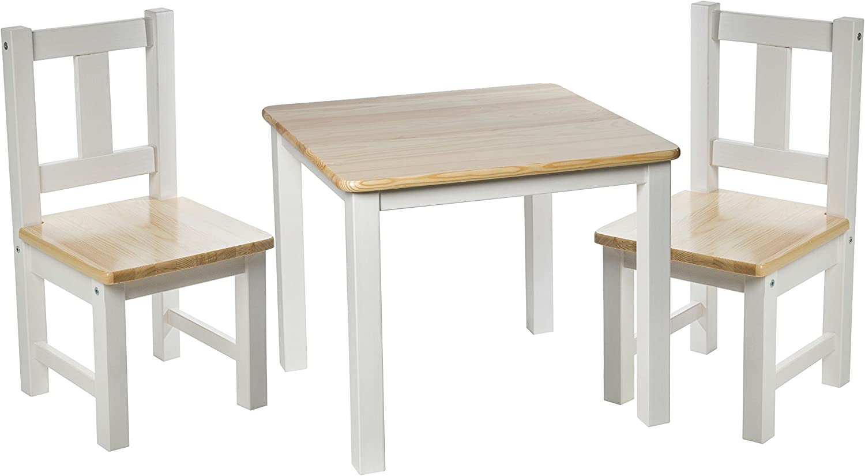 rabando® Lätt Europea de pino madera maciza madera mesa infantil ...