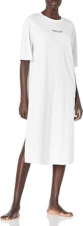 A|X Armani Exchange Women's Logo Midi T-Shirt Dress