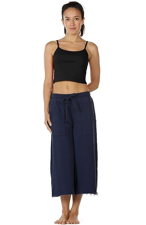4c25210555c36 Amazon.com  icyzone Spaghetti Strap Tank Crop Top - Sleeveless Open Back  Cotton Ribbed Knit Cami Shirts Women  Clothing