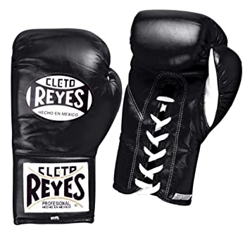 Cleto Reyes Official Professional Fight Boxing Gloves Special Edition,  Black, 8-Ounce