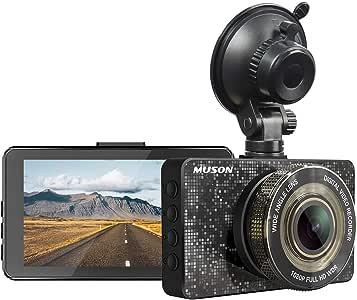 Dash Cam MUSON Car Dash Cam 1080P Full HD 3.2-inch Dashboard Camera, Super Night Version with 170° Wide Angle, Loop Recording, G-Sensor Protection Dash Camera for Car, WDR, Parking Guard Car Camera Recorder