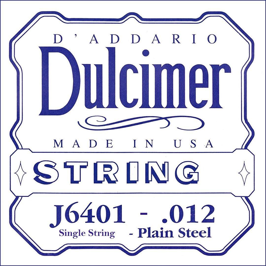 D`ADDARIO J6401 일반 강철 DULCIMER 단일 문자열 .012