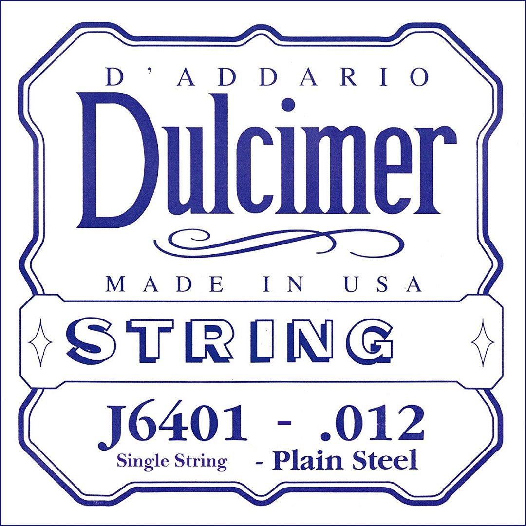 D'Addario J6401 Plain Steel Dulcimer Single String.012 D'Addario