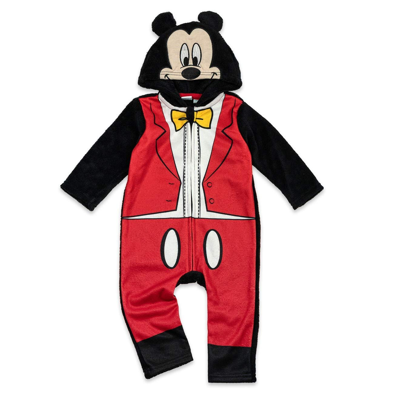 80 Baby Overall mit Kapuze f/ür Neugeborene /& Kleinkinder Motiv: Mickey Mouse Frack Gr/ö/ße: 9-12 Monate Disney Baby Strampler Jungen rot schwarz
