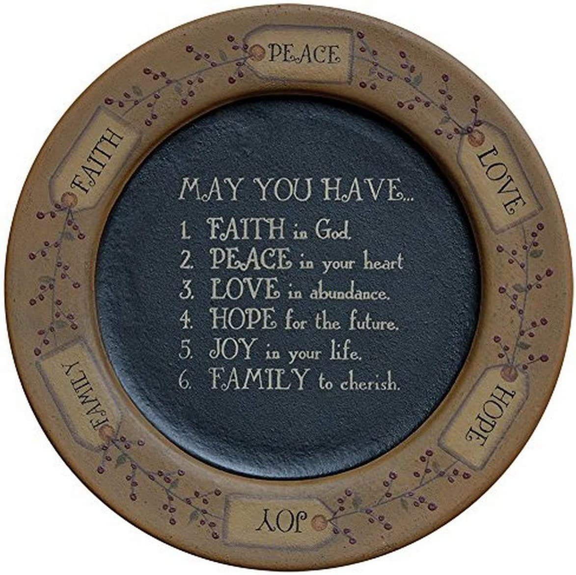 "CWI Gifts G31499 11"" May You Have.Plate, Multicolor"