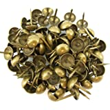 C.S. Osborne Natural French Nail Tacks Antique Brass 100pk