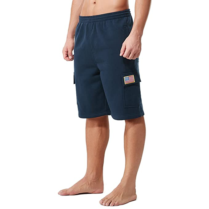 c01e9bc104f KingPlusSports Men s Plus Size Cotton Loose Big and Tall Waist Cargo Shorts  Navy XL