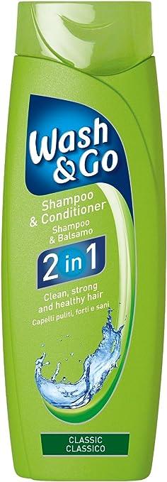 Wash & Go 2 en 1 Classic – Champú y Acondicionador, pack de 9 uds: Amazon.es: Salud y cuidado personal