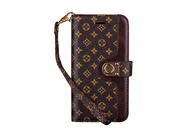 893fb62fbb547 iPhone Xs Max Case Bifold Monogram Case Magnetic Leather Flip Filo Card  Cash Clip Luxury Famous Elegant Strap Wallet Case Cover for iPhone Xs Max  6.5