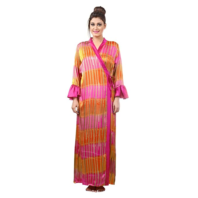 8f443fe0c9 FARRY Satin Nighty for Women with Robe