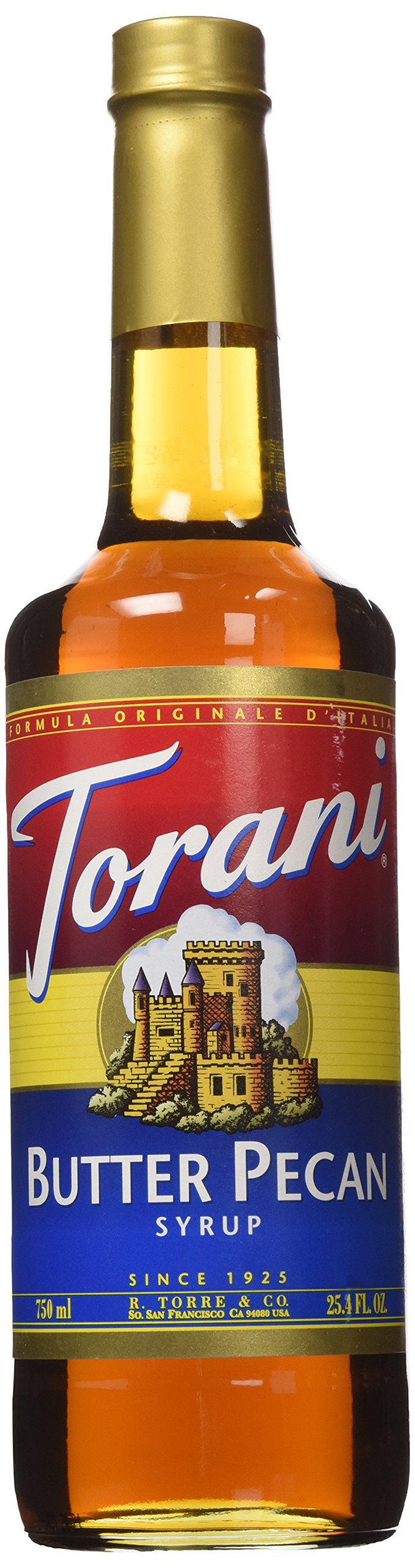 Torani Butter Pecan Syrup 750mL, 25 oz