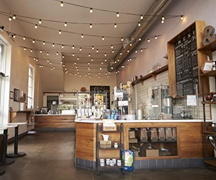 Amazon.com : Cafe Bar Interior Photography Backdrop Romantic Light ...