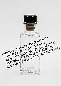 nr 1 botella Antigua Quadra 100 ml de vidrio blanco tapón n°56: Amazon.es: Hogar