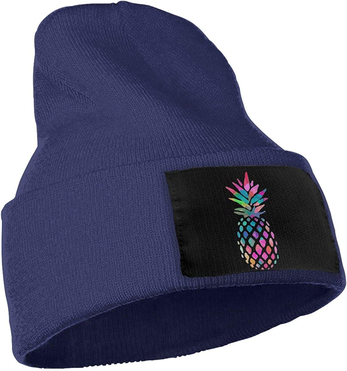 WHOO93@Y Mens and Womens 100/% Acrylic Knit Hat Cap Watercolour Pineapple Soft Ski Cap