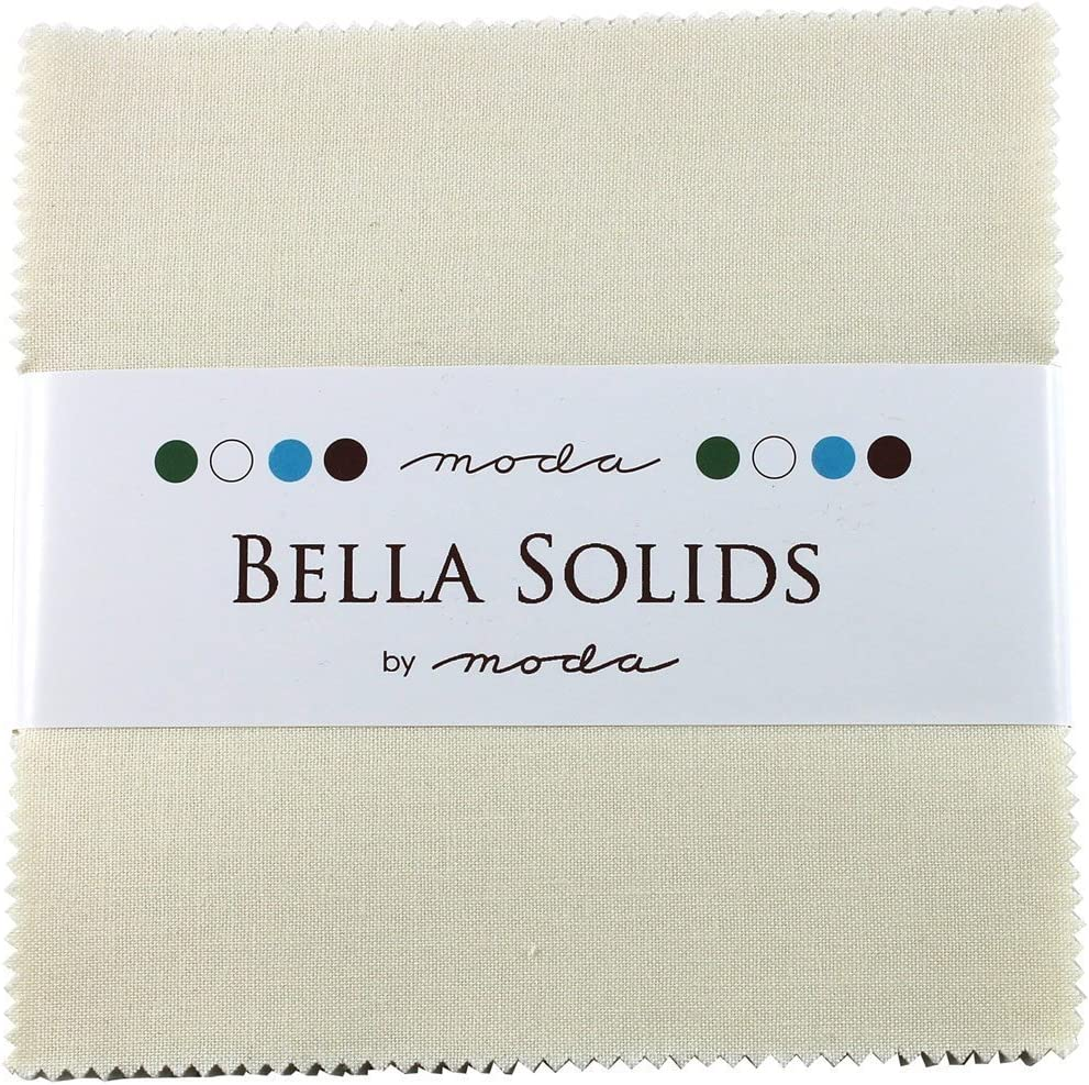 Bella Solids Ivory Moda Charm Pack by Moda Fabrics; 42-5