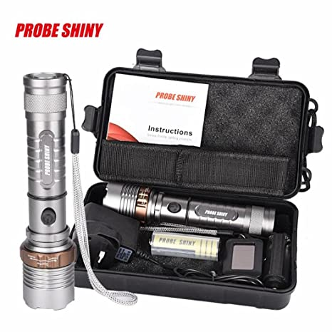 5000LM G700 X800 Zoomable XML T6 LED Tactical Flashlight Battery+Charger+Case
