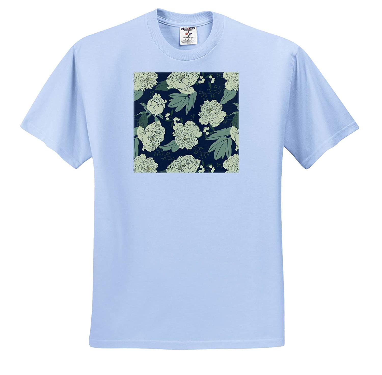 3dRose Janna Salak Designs Flowers Adult T-Shirt XL ts/_310729 Moody Floral Mellow Yellow