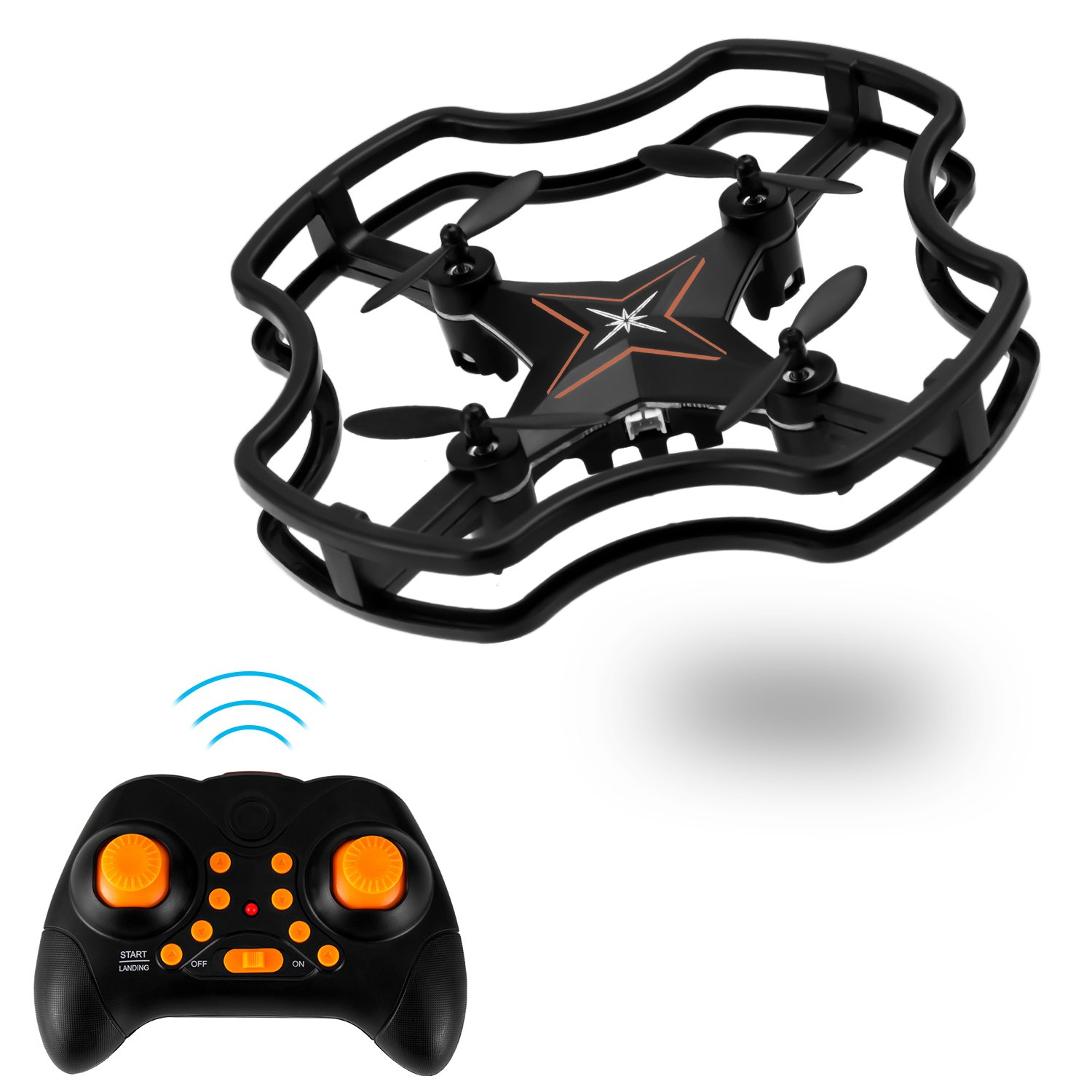 RC Mini Drone, Zomma F15 RC Quadcopter, Little Nano Quadcopter with 3D Flips, Headless Mode Remote Control Best Drone for Beginners & Kids - Black