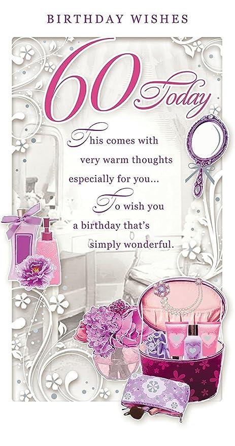 Auguri Buon Compleanno 60.Biglietto D Auguri 60 Anni Per Donna 60 Today Con Scatola