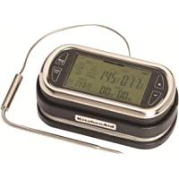 KitchenAid KN128OB Portable Wireless Remote LED Digital Probe Thermometer with Timer for Oven, Grill and Smoker Use, 5…