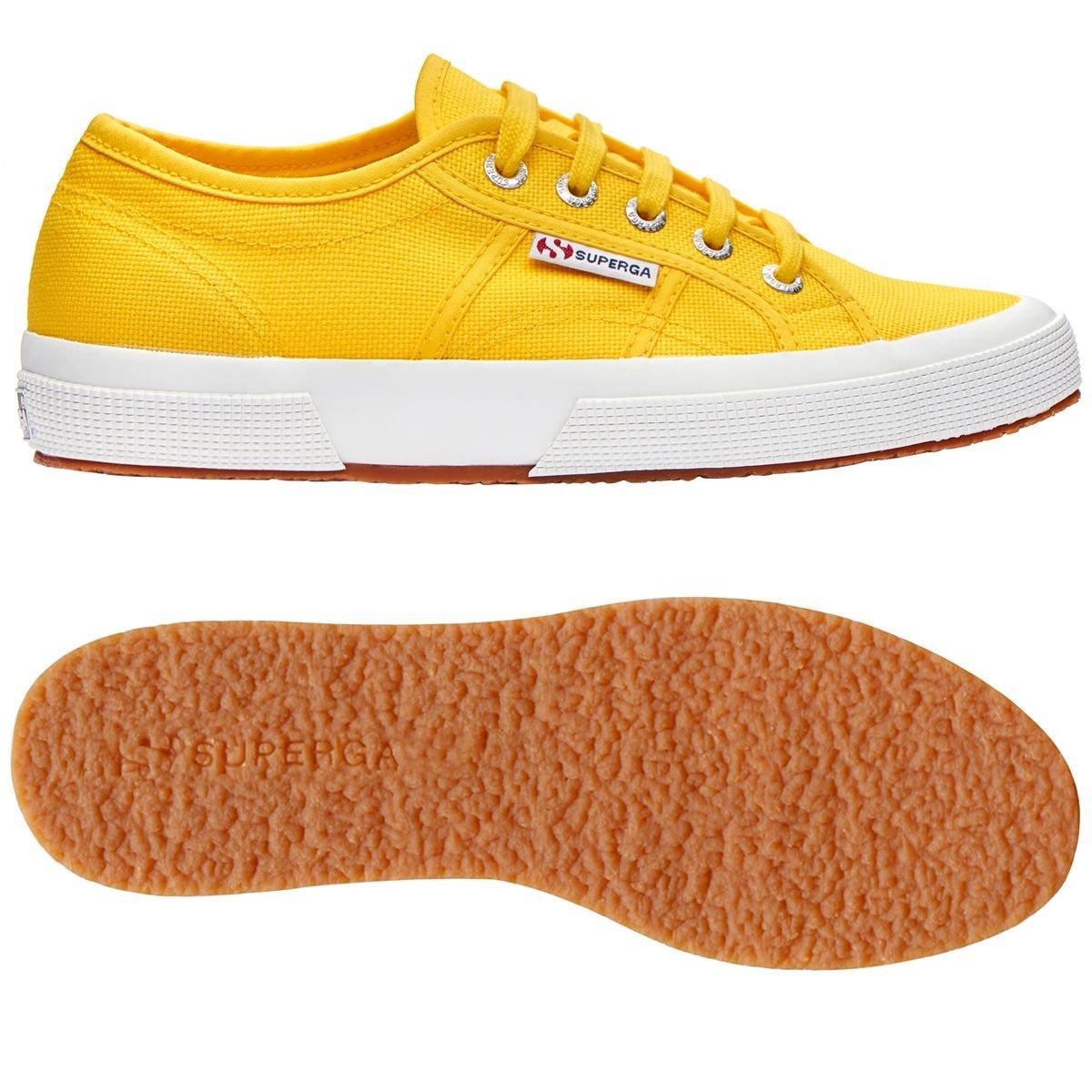 Multicolour (Gelb Tournseol) Schuhe Superga Turnschuhe Herren Damen Unisex 2750-plus Cotu Frühling Sommer Herbst Winter