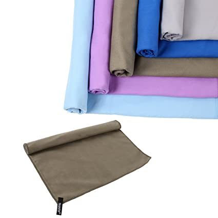 xuanle toalla de viaje de microfibra absorbente secado rápido compacto deportes natación gimnasio toallas de camping