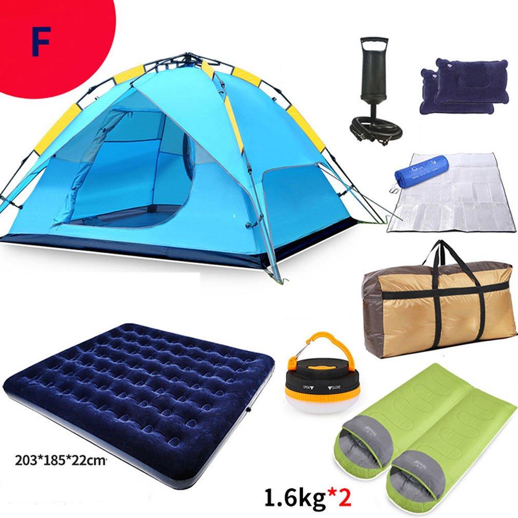 Unbekannt XQQQ - Hydraulische Zelt Kuppel Zelt Hydraulische Überdachung Für Camping Automatische Wasserdichte Hydraulische Zelte 3-4 Person Überdachung Einfach Zu Installieren (Zelt-Set) 263514