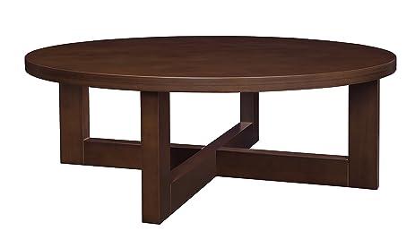 Regency Chloe 37 Inch Round Coffee Table  Mocha Walnut