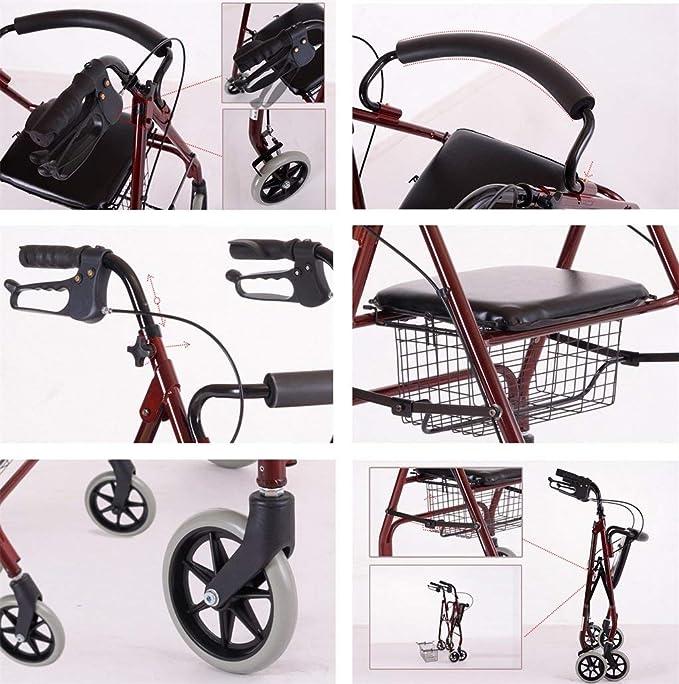 Amazon.com: ALUS- Carro de paseo para personas mayores ...