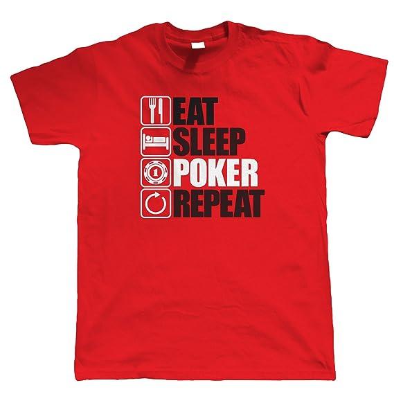 Vectorbomb, Eat Sleep Poker Wiederholen sie die, Herren Lustige, Spiel T- Shirt (S zu 5XL): Amazon.de: Bekleidung
