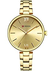 Women Watches Narrow Stainless Steel Band Quartz Watch Girls Fashion Ultra-Thin Wristwatches