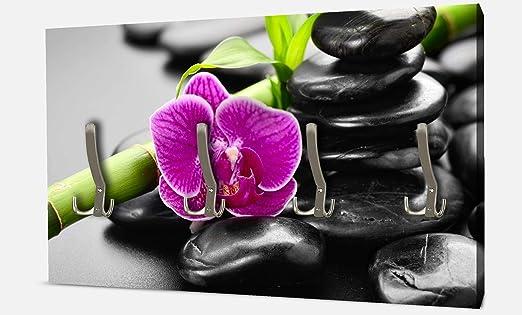 wandmotiv24 Guardarropa Piedras de basalto Zen y orquídea ...