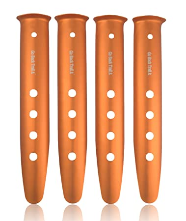 GoBackTrail TENT STAKES - Designed for Snow u0026 Sand - Aluminum C& Pegs u2013 For use  sc 1 st  Amazon.com & Amazon.com : GoBackTrail TENT STAKES - Designed for Snow u0026 Sand ...