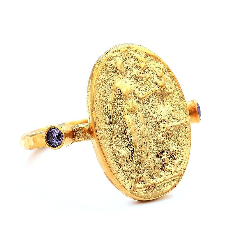 Handmade Oval Morganite Pendant Mother Day Unique Turkish Designer Jewelry Roman art Design Gift For Her Ancient Roman Art