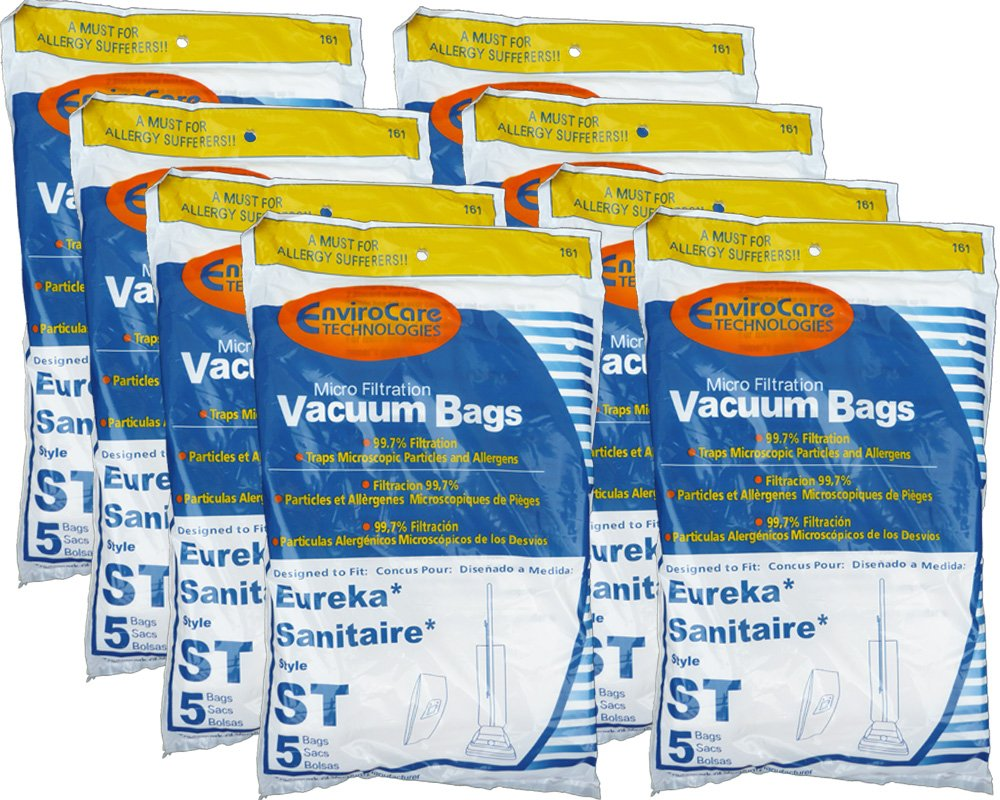 EnviroCare Replacement Micro Filtration Vacuum Bags for Eureka Sanitaire Type ST Uprights 40 bags
