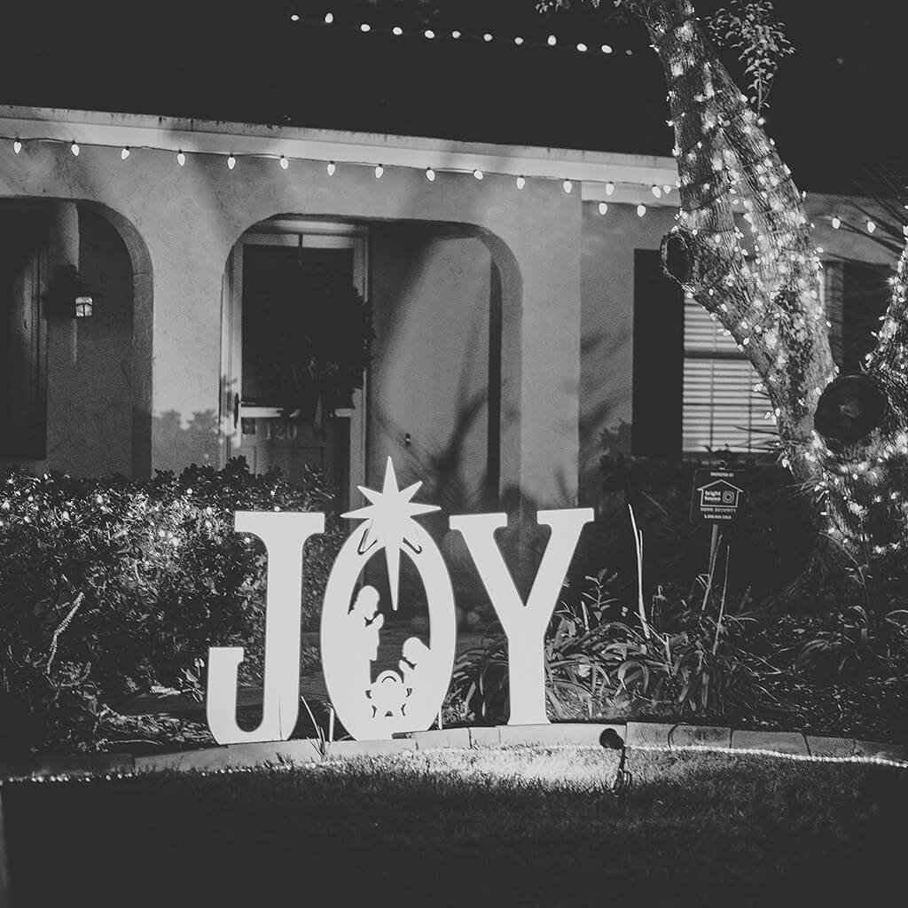 Teak Isle Christmas Joy Nativity Yard Sign by Teak Isle