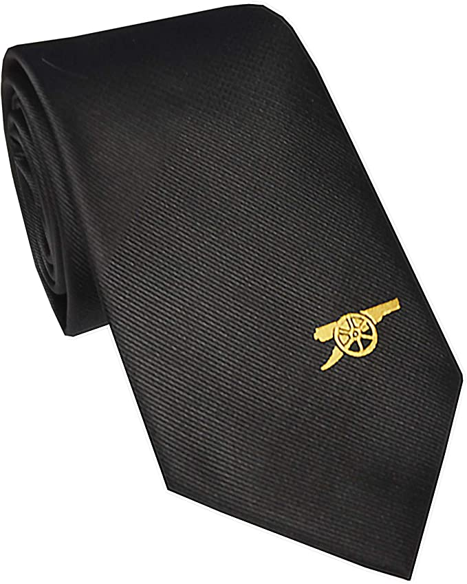 Arsenal FC - Corbata oficial con el escudo del club - Negro - Logo ...