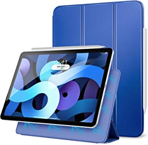 """MoKo Magnetic Case Fit New iPad Air 4th Generation 2020 (iPad 10.9 Case)/iPad Pro 11"""" 2018 - Slim Lightweight Smart Folding Stand Folio Cover for iPad Air 4 Case 10.9 inch, Auto Wake/Sleep, Navy Blue"""