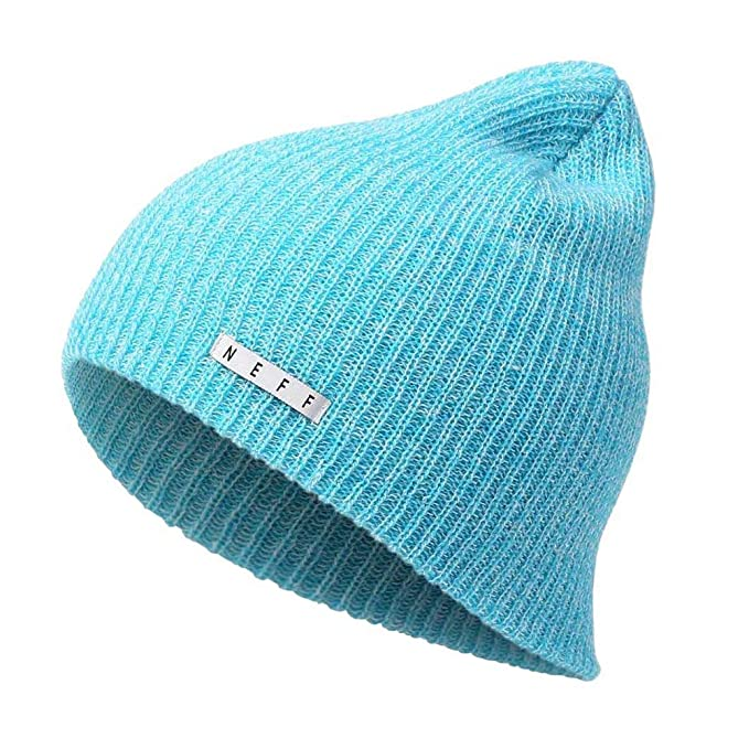 e25d136d3d2f3c NEFF Adult's Heather Beanie Hat Cuffed Unisex Softest Comfortable,  Cyan/White, One Size