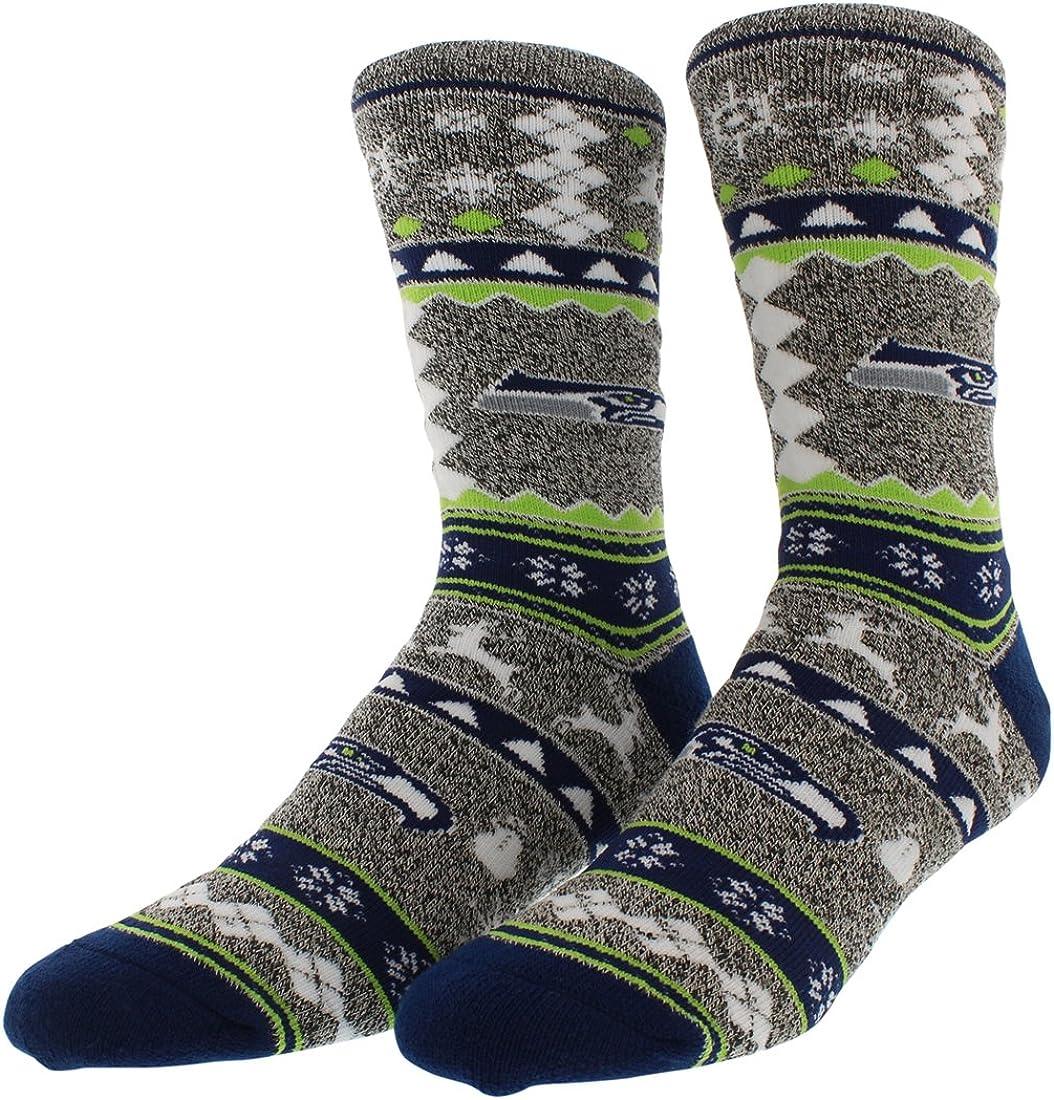 For Bare Feet NCAA Ugly Christmas Holiday Snowman Socks-Sizes Medium /& Large