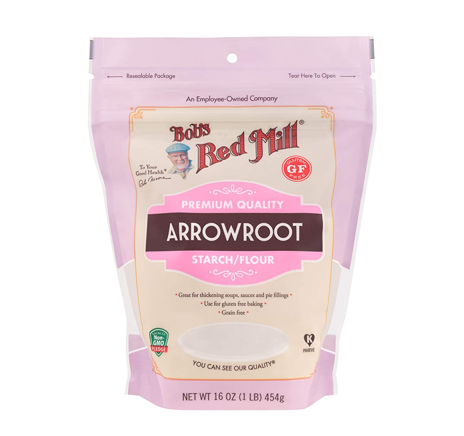 Amazon com bobs red mill arrowroot starch flour 16 ounce baking thickeners grocery gourmet food