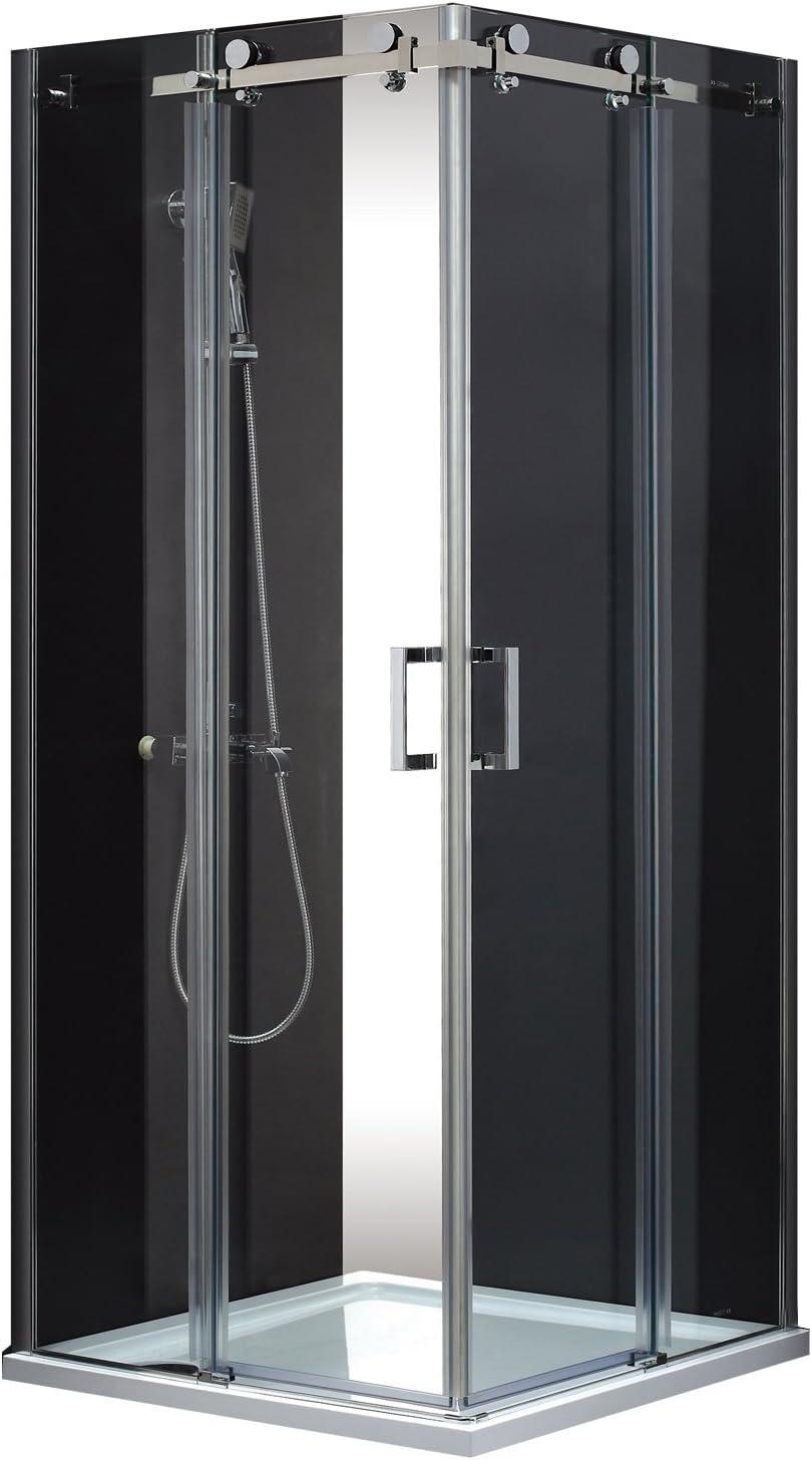 Mampara de ducha Aqua zentralstaubsauger con cabina de ducha deslizante para puerta color MSST409 (8 mm de vidrio 90 cm) MSST409: Amazon.es: Bricolaje y herramientas