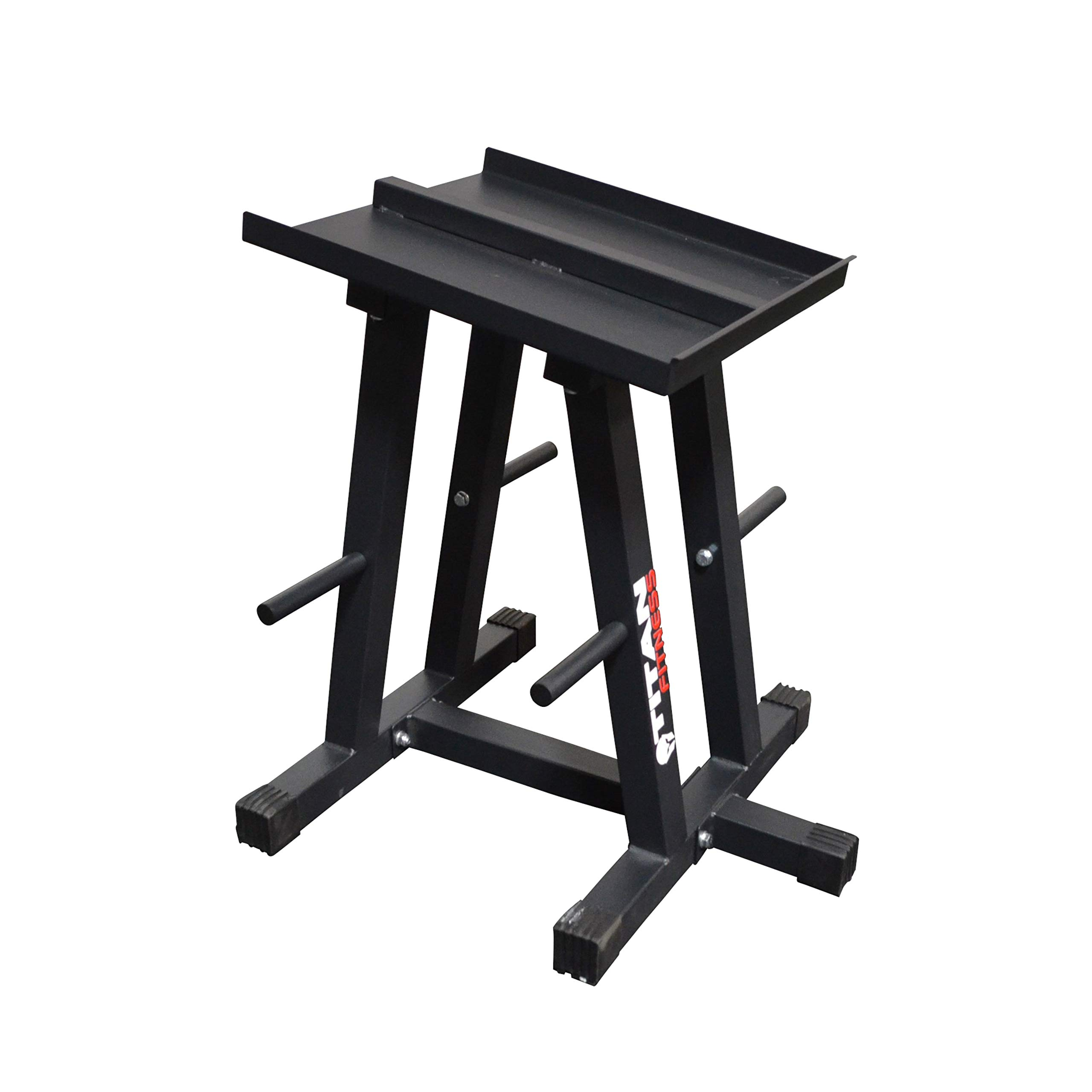 Titan Fitness Dumbbell Column Stand and Plate Tree Power Block by Titan Distributors Inc.