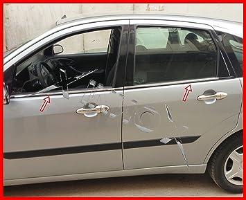 Marco para ventanas de acero inoxidable cromado, 4 piezas: Amazon.es: Coche y moto