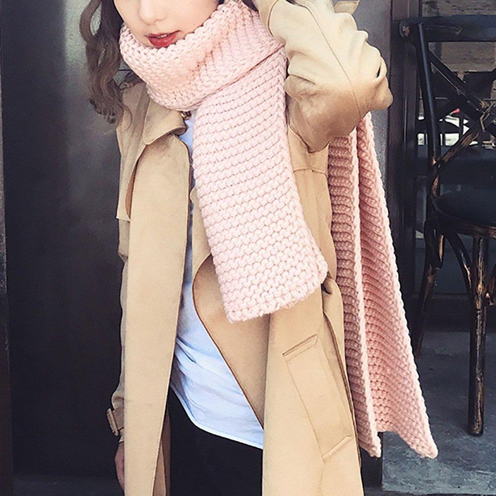 LJHA Sciarpe lavorate a maglia Sciarpa calda delle sciarpe delle sciarpe delle sciarpe di inverno di inverno della donna di inverno Sciarpe in maglia di inverno 6 colori disponibili (formato: 168 * 30cm) ( Colore : F. , dimensioni : 168*30CM )