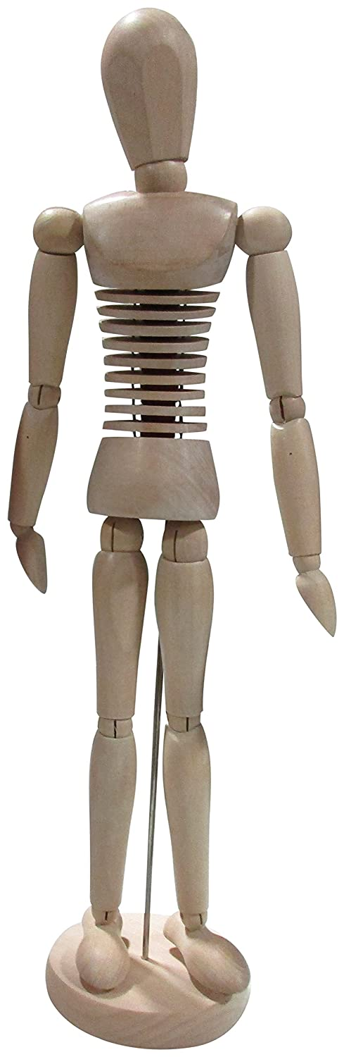 Darice 16.75-Inch Sectioned Wood Manikin 97760