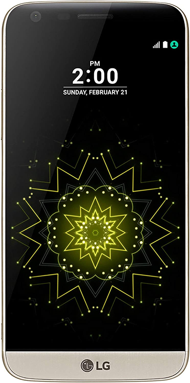 LG G5 (32GB, 4GB RAM) H820 5.3in Quad HD Display, Dual Cameras, 4G LTE GSM Unlocked Modular Phone, (US Warranty) Gold (Renewed)