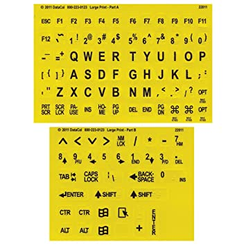 picture regarding Braille Printable referred to as Superior Print-Braille Keyboard Labels- Blk upon Yellow