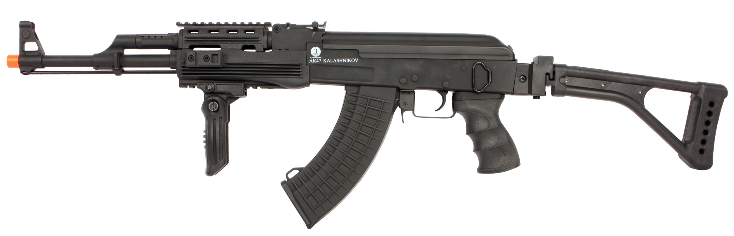 Soft Air Kalishnikov AK47 Rifle de Airsoft de metal completo eléctrico con salto ajustable, 390-430 FPS