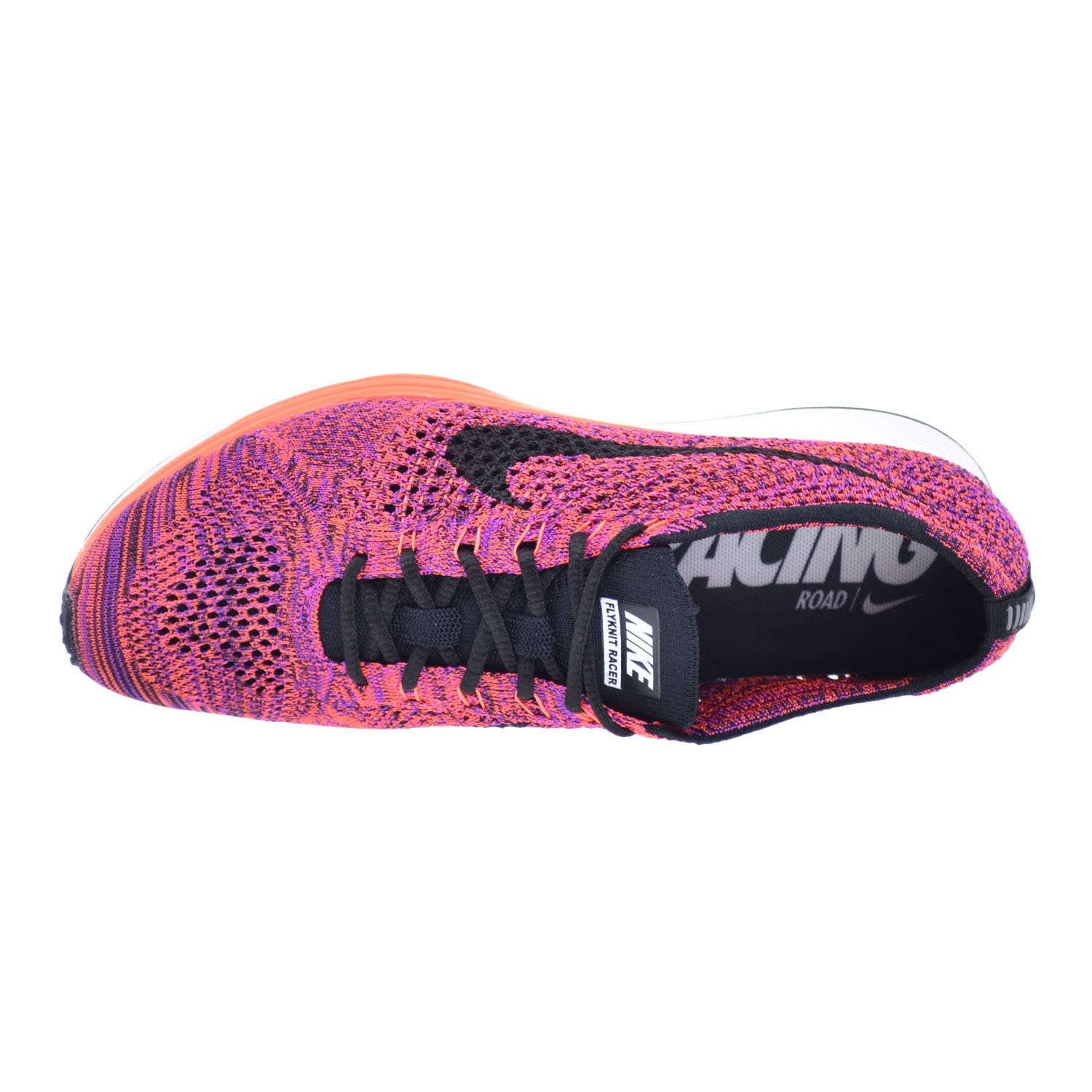 reputable site 32e79 0f1dc Amazon.com  Nike Flyknit Racer Mens Shoes BlackBlack-Hypr Orng-VVD Prpl  526628-008 (10.5 D(M) US)  Road Running